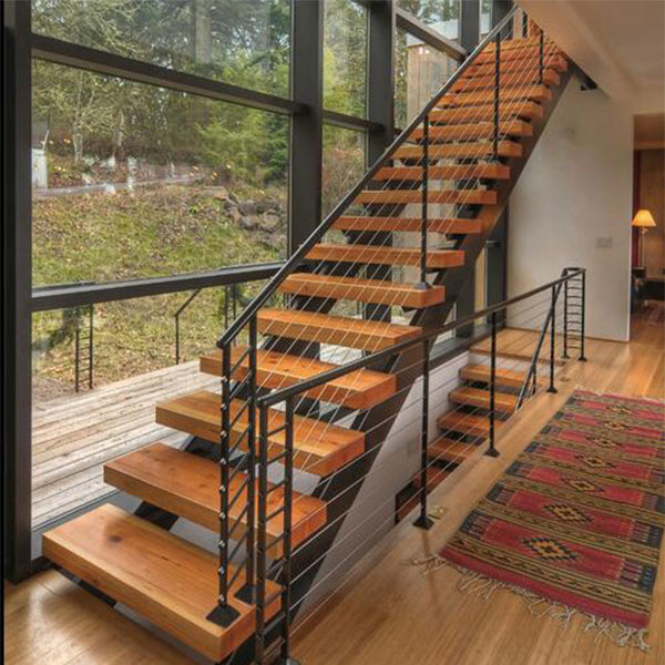 Factory Sell Steel Wood Stair Price Moderm Space Saving