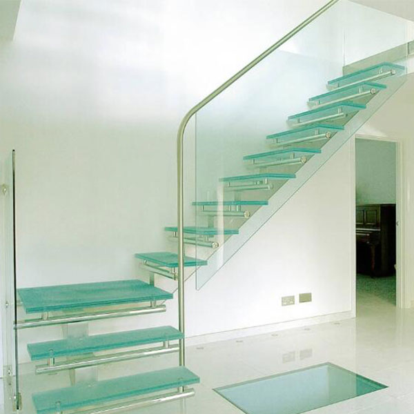 New Arrival Non Slip Stair For Sale Glass Stair Treads Glass Straight Stair