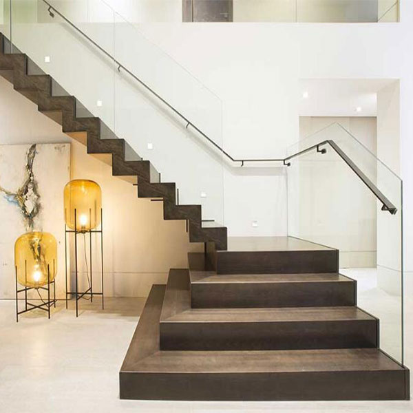 Manufactured Modern Mono Stringer Steel Staircase With