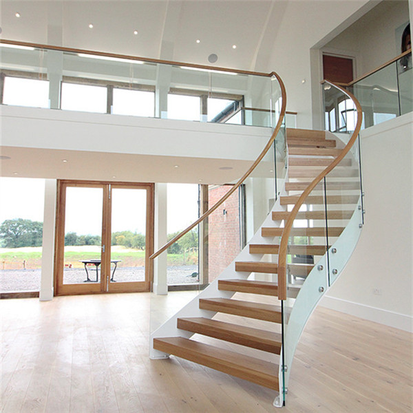 Double Stringer For Curved Marble Steps Staircase PR-C02