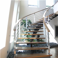 Customized Wooden Handrail Wooden Steps Staircase PR-C21