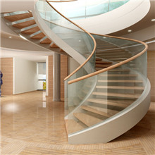 Curved Carbon Steel Beam For Internal Wooden Staircase PR-C22