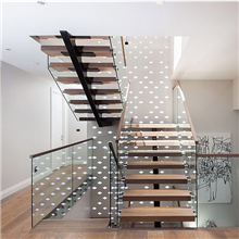 modern staircase deisgn open riser staircases with wooden steps and glass railing