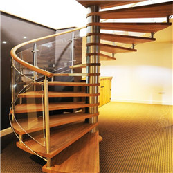Indoor Art Metal Spiral Stairs Led Light Customized Staircase