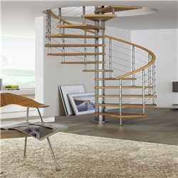 Hot Sell Used Spiral Staircase Handrail Design Wooden For Indoor