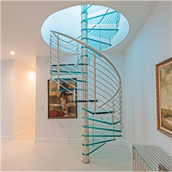 Interior Small Attic Stylish Minimalist Glass Spiral Staircase
