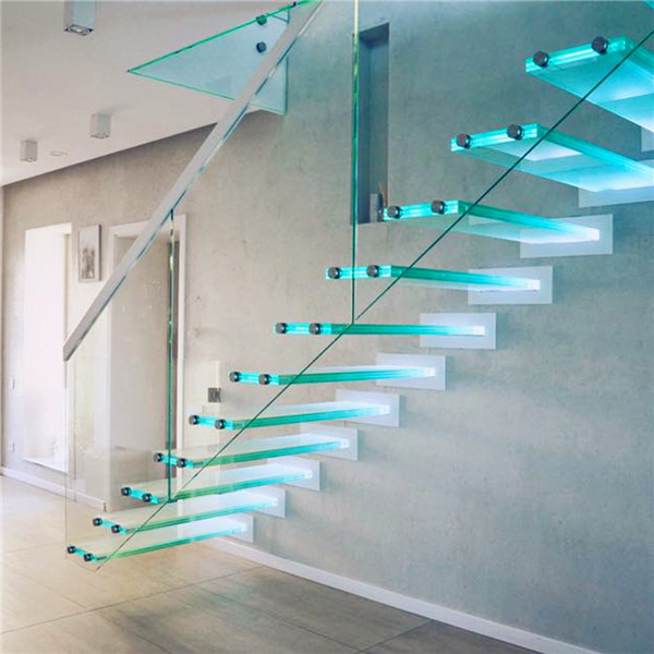 Outdoor Floating Stairs Florida Project: DIY Floating LED Strip Glass Staircase For Villa